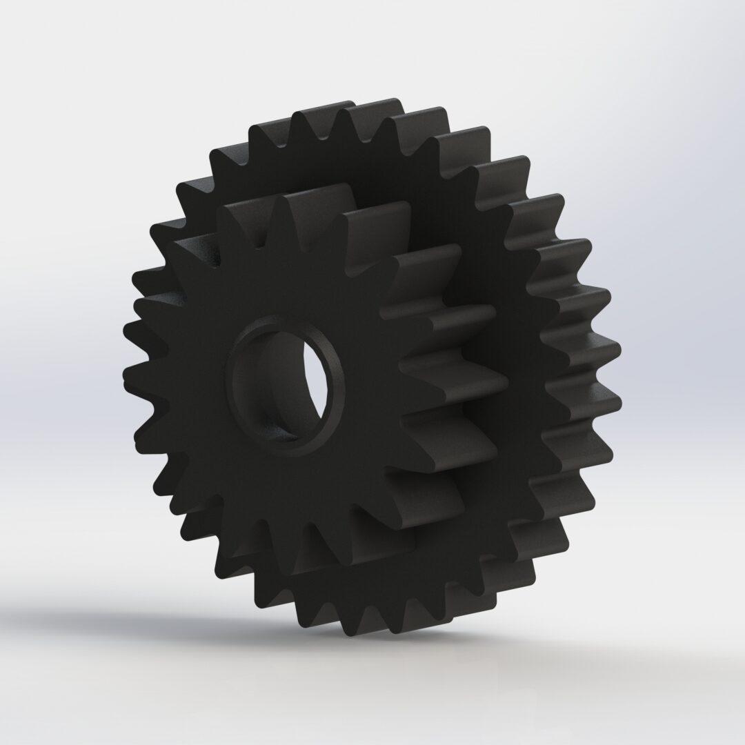 Tandwiel 3D tekenen Knex Lego Race auto
