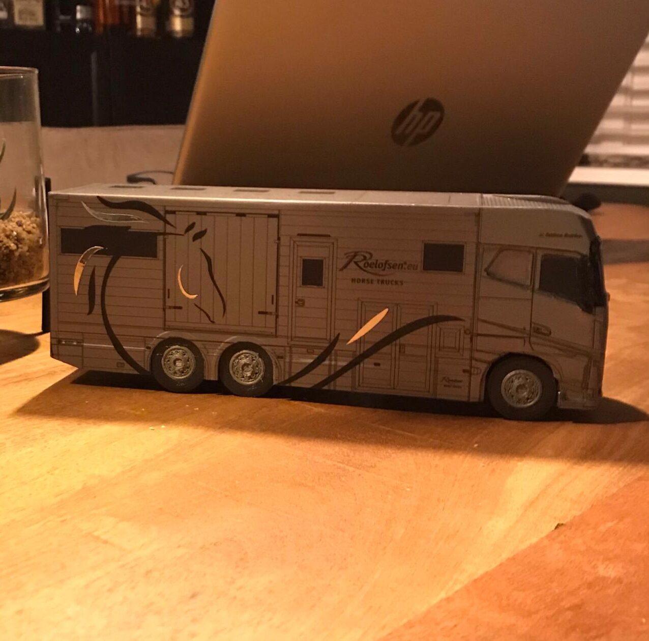 Horsetruck Roelofsen 3D print Schaalmodel