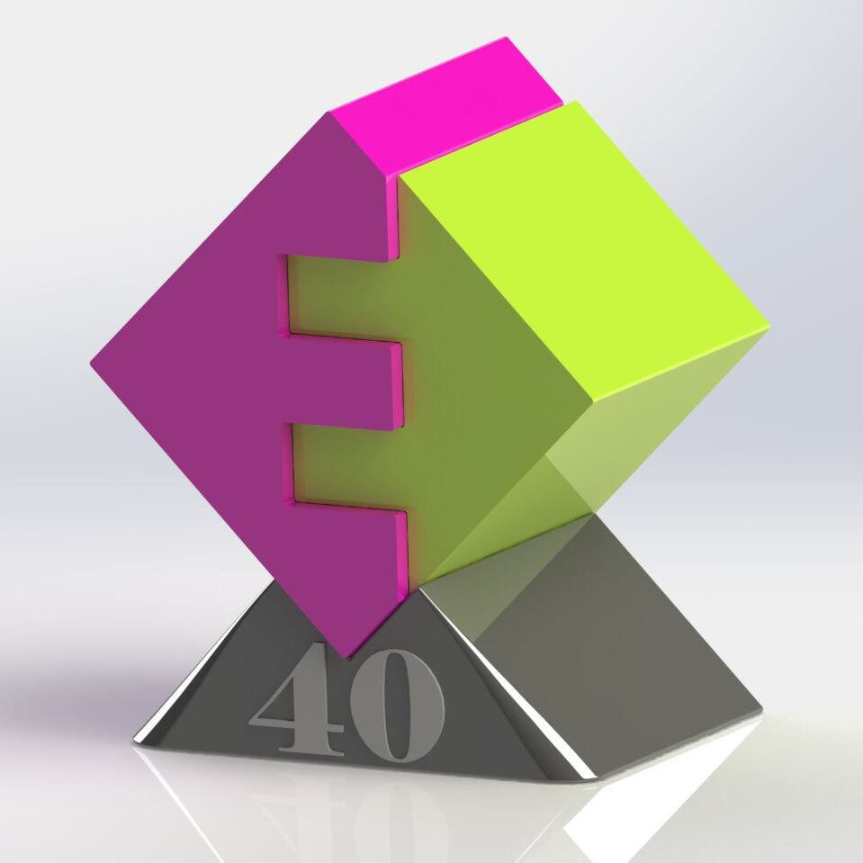 Geschenk Logo Render Enexis Logo 40 jaar in dienst